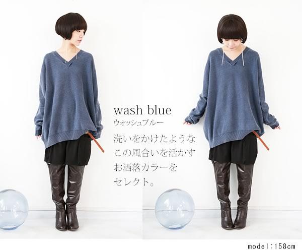 osharewalker 復古風長袖針織衫上衣 / D009D-MI-545。1色(4968)-日本必買代購 / 日本樂天 4