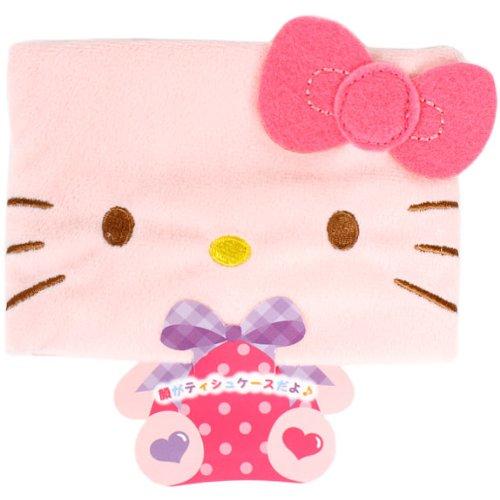 X射線【C113585】Hello Kitty 面紙包套-臉,美妝小物包/筆袋/面紙包/化妝包/零錢包/收納包/皮夾/手機袋/鑰匙包