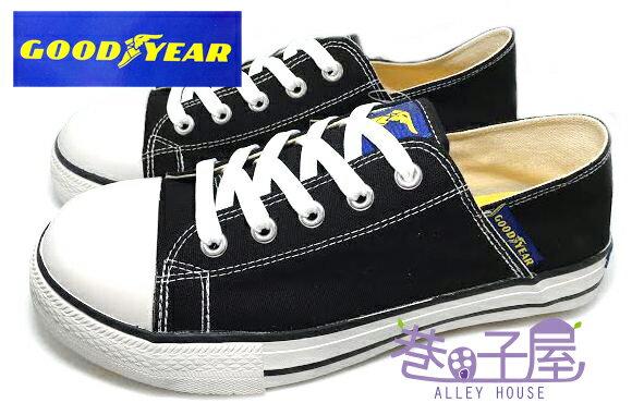 【巷子屋】GOODYEAR固特異 男款多功能鋼頭防潑水經典帆布鞋 [43880] 黑 MIT台灣製造 超值價$398