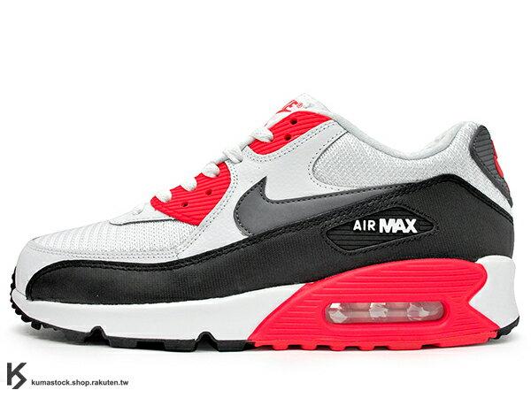 2015 最新 NSW 經典復刻鞋款 人氣商品 NIKE AIR MAX 90 ESSENTIAL 白黑紅 網布 皮革 慢跑鞋 (537384-126) !