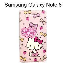 HelloKitty彩繪皮套[草莓]SamsungGalaxyNote8N950FD(6.3吋)【三麗鷗正版】