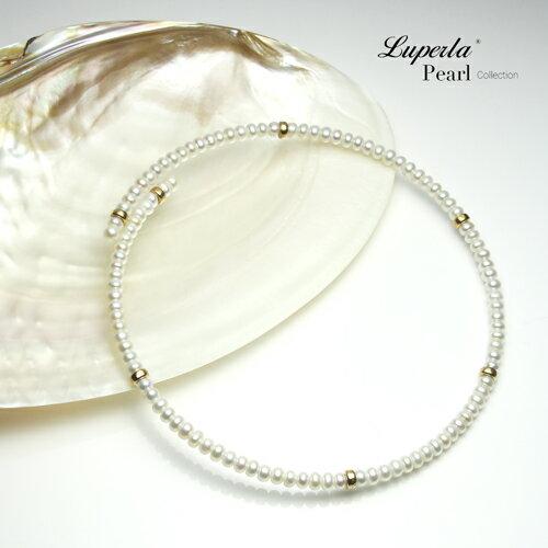 大東山珠寶 浪漫貴族 頸圈項鍊 歐美古典編織珠寶 14K天然珍珠項鍊 1