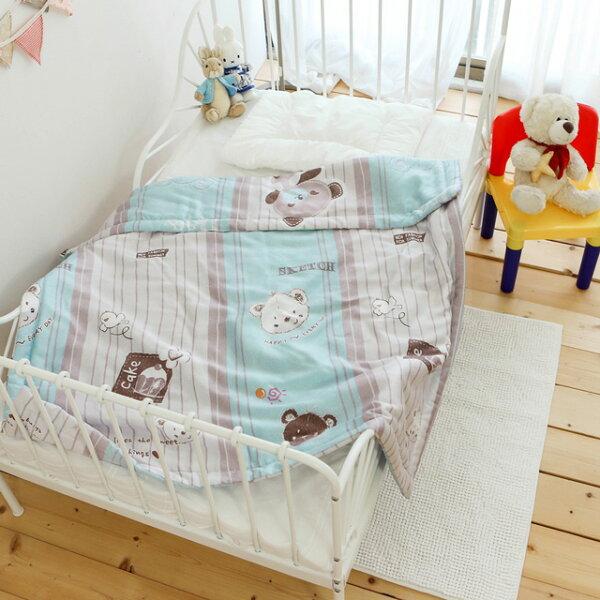 兒童天絲涼被【藍色小熊】105*120cm絲薇諾