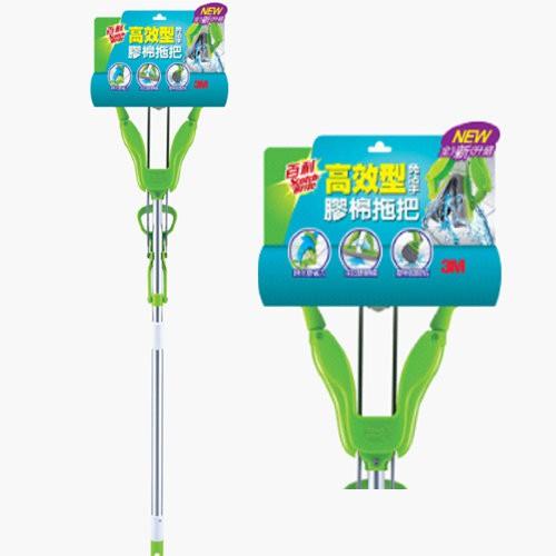 3M W3 / W3+ 百利免沾手快潔吸水膠棉拖把(綠)