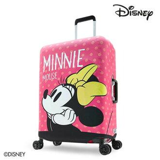 【加賀皮件】DESENO DISNEY 迪士尼 米妮MINNIE 可愛點點 彈性箱套 行李箱套 行李保護套 M號 少女夢想 B1129-0005