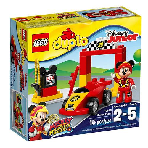 樂高積木 LEGO《 LT10843 》2017年Duplo 得寶系列 - 米奇賽車