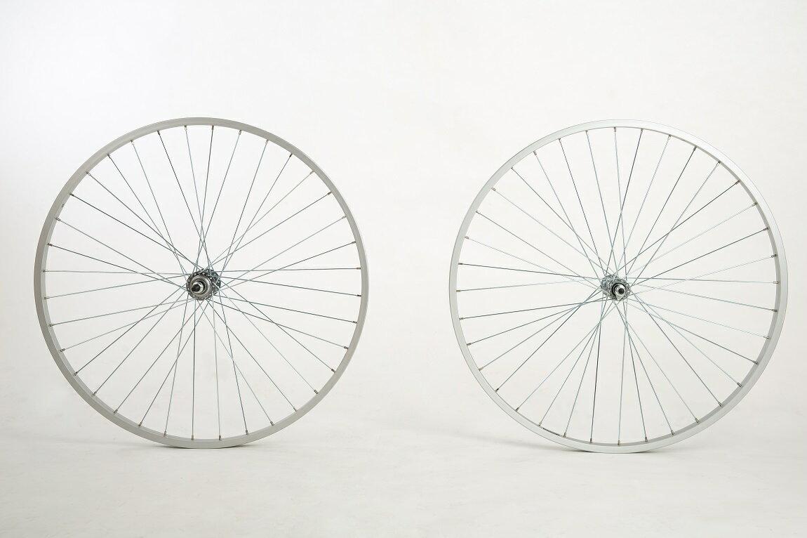 26吋淑女車 單層鋁合金前後輪組 一車份 --前輪組 + 單速後輪組--《意生自行車》