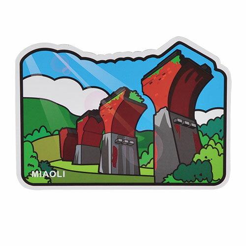 【MILU DESIGN】+PostCard>>台灣旅行明信片-苗栗 龍騰斷橋/明信片(台灣景點/風景/古蹟/橋/TAIWAN MIAOLI)