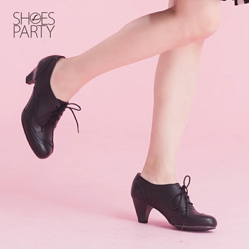 【B2-15062L】軟Q鞋墊牛津真皮中跟踝靴_Shoes Party 3