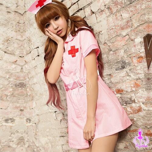 亞娜絲情趣用品粉嫩天使!二件式護士角色扮演服情趣睡衣