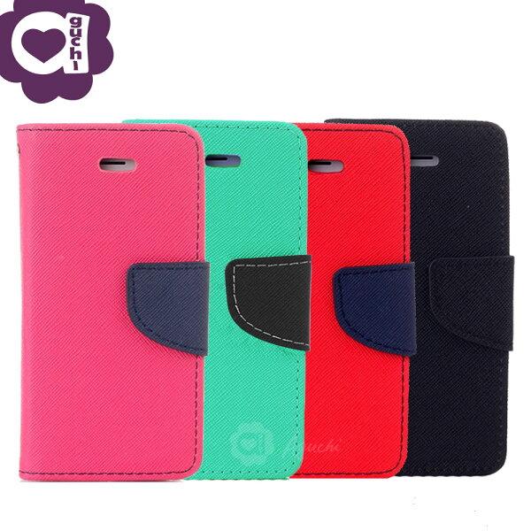 SamsungGalaxyJ7Prime馬卡龍雙色系列側掀支架式手機皮套磁吸扣帶桃綠紅黑多色可選