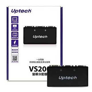 Uptech 登昌恆 VS200 2-Port 一分二 一對二 螢幕分配器 VS-200 0