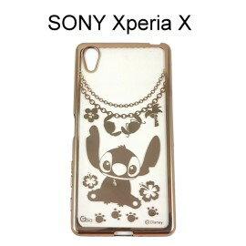 迪士尼電鍍軟殼[項鍊]史迪奇 SONY Xperia X 【Disney正版授權】