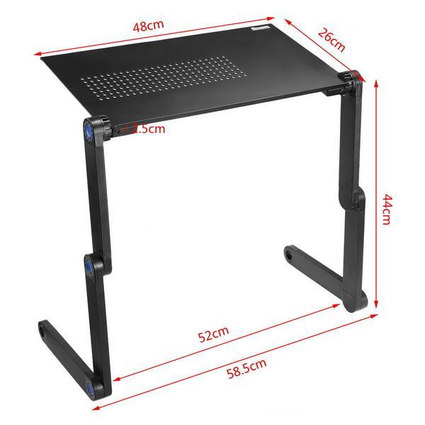 Adjustable Foldable Laptop Desk Table Stand Tray 2