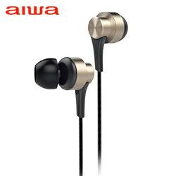 aiwa 入耳式耳機麥克風-金(EW101GN)