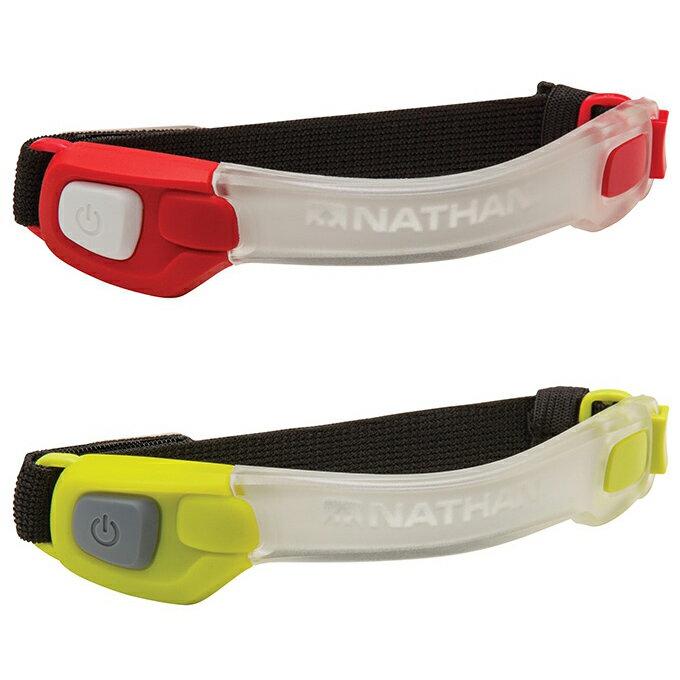 Nathan 輕量防水LED手臂環 NA5073 紅光/螢光綠 Run Longer 警示燈 夜跑 夜騎腳踏車 螢光夜跑