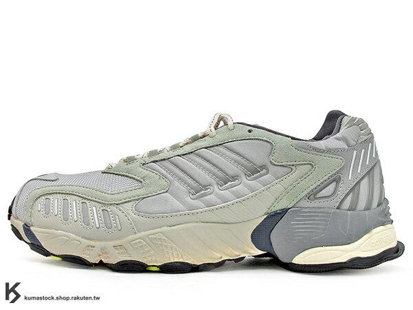 [20% OFF] 2019 限量發售 丹麥火紅服飾品牌 Norse Projects x adidas Consortium TORSION TRDC NP 灰銀 老爹鞋式樣跑鞋 專利抗扭科技 (EF7666) !