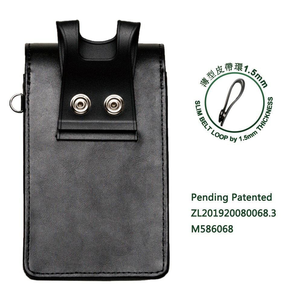 外銷歐美 可放2支手機 高級真皮直式雙機包+卡夾包 專利卡扣彎腰不卡卡 出口歐美🔹顛覆傳統腰掛皮套 隨心調整🔹 6