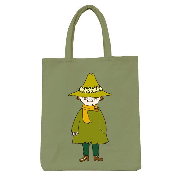 【嚕嚕米Moomin】彩色野餐包-阿金(咖啡軍綠)
