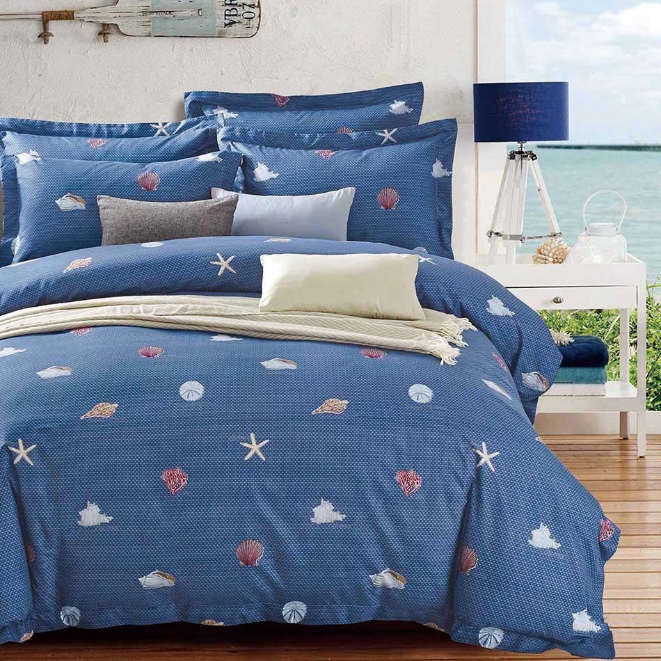 【夏日海洋】天鵝絨輕柔棉床包組