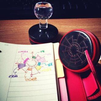 =優生活=【買就送墨水】韓國文青旅行手帳時間軸印章 熱敏印油章 Chronodex時間餅圖12/24小時