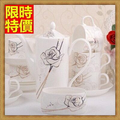 下午茶茶具 含茶壺+咖啡杯組合-6人高檔歐式骨瓷茶具9色69g35【獨家進口】【米蘭精品】