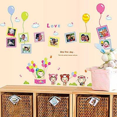 BO雜貨【YV4168】創意可移動壁貼 牆貼 背景貼 時尚組合壁貼 兒童照片貼