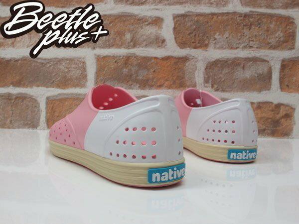 《下殺$1499》BEETLE PLUS 全新 2015 NATIVE JERICHO 粉白 草莓牛奶 奶油底 超輕量 女鞋 修身鞋 GLM04W-5949 2