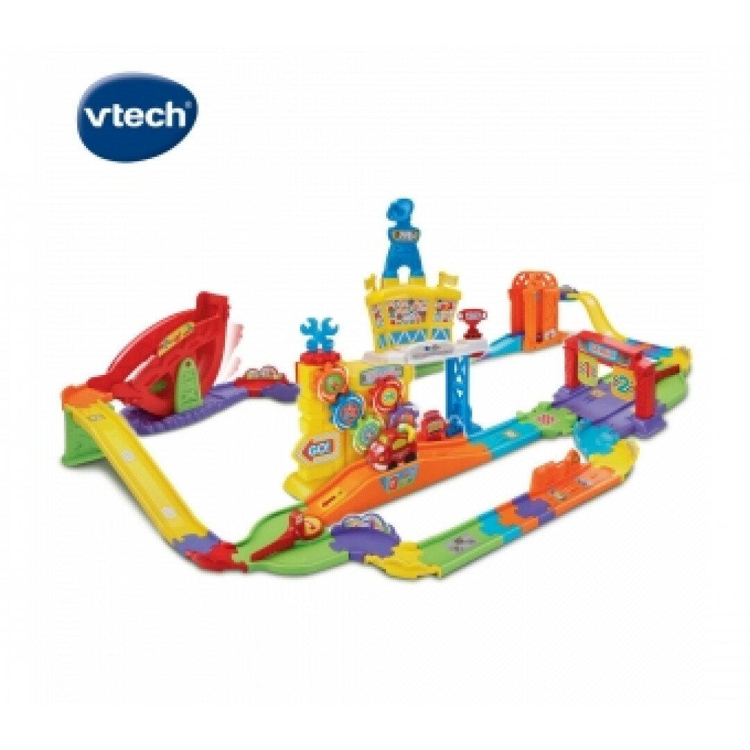 《英國 Vtech》 嘟嘟車系列-超級搖控賽車軌道組 東喬精品百貨