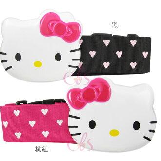 日本製 凱蒂貓 HELLO KITTY旅行箱 行李箱束帶 反光蝴蝶結 2款任選☆艾莉莎ELS☆