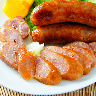【金榮肉品】屏東東港 辣味飛魚卵香腸 - 140元(300克±5%/包)