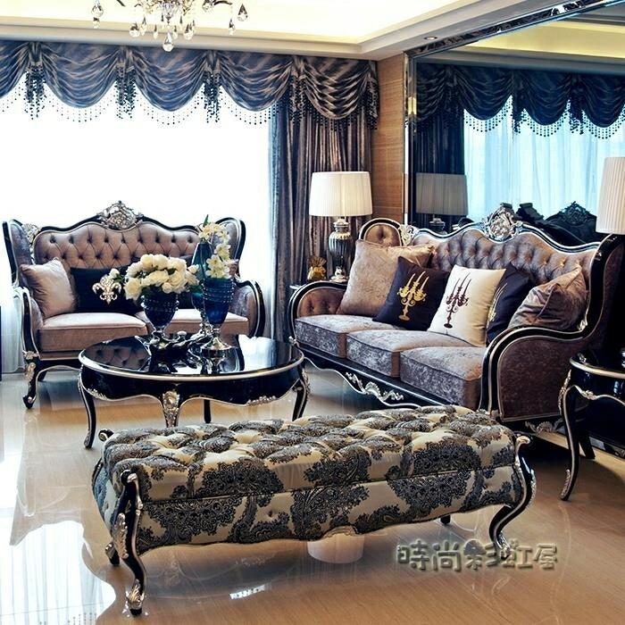 歐式沙發新古典實木奢華布藝沙發小戶型單雙三人沙發組合客廳