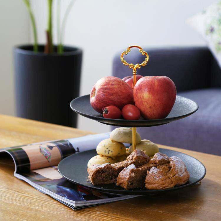 歐式三層水果盤架客廳茶幾家用現代創意多層糖果托盤下午茶點心架