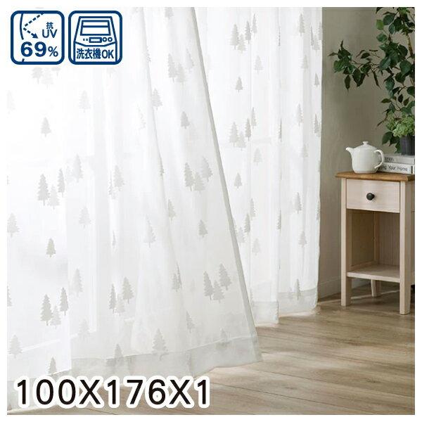 蕾絲窗簾 CHENE 100×176×1 NITORI宜得利家居 0