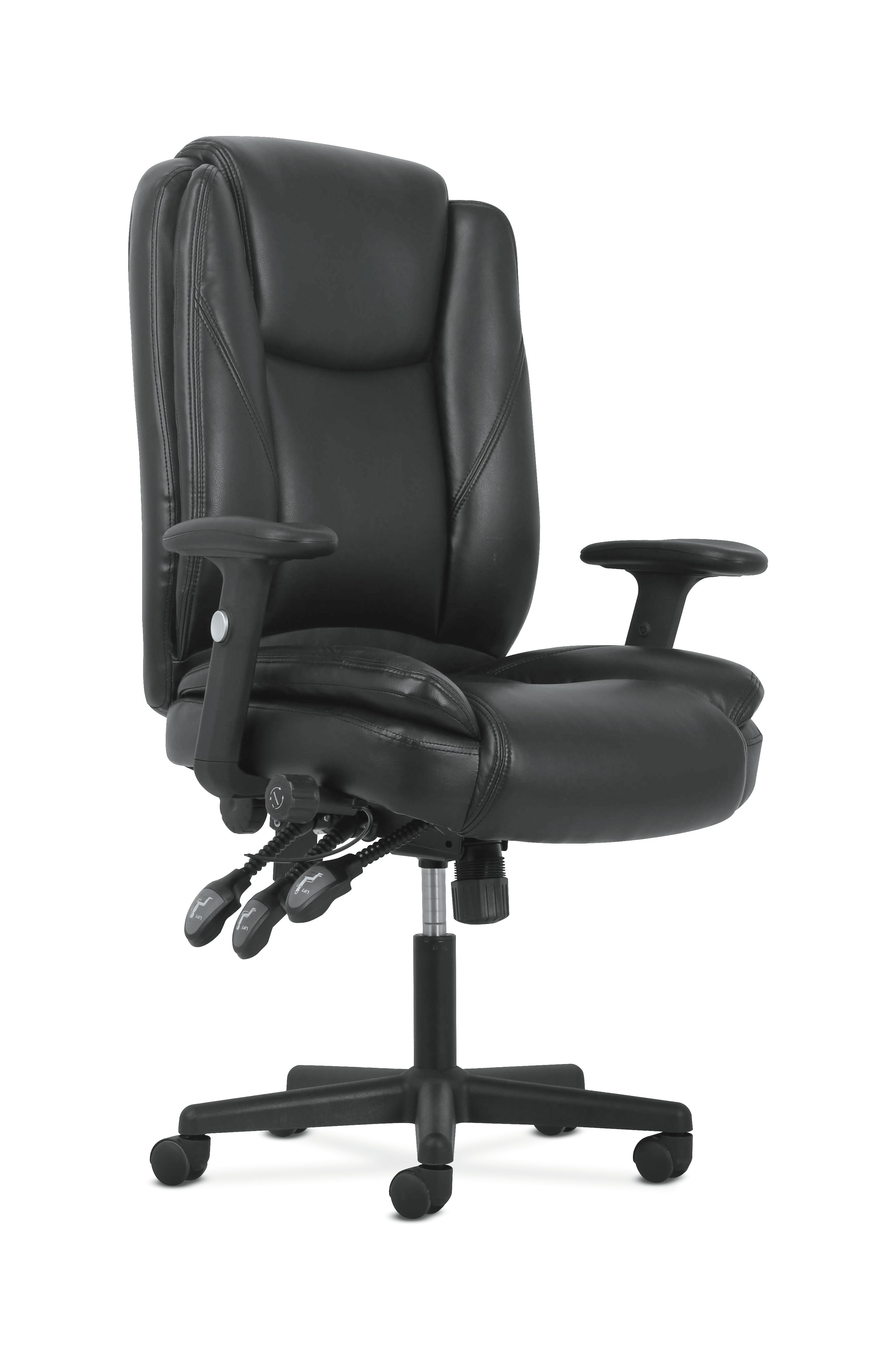 Sadie high back leather office computer chair ergonomic adjustable swivel chair with lumbar