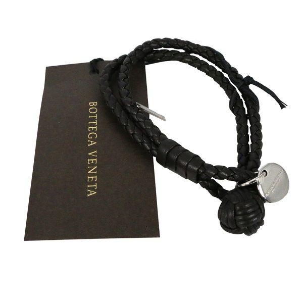 【BOTTEGA VENETA】小羊皮雙圈編織手環 S (深栗子色) 113546 V001D 2006
