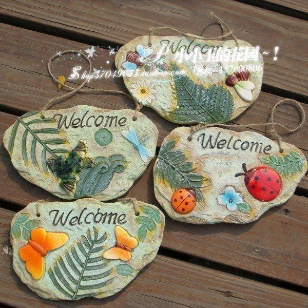 【昆蟲-地中海花園歡迎牌】趣味家居飾品時尚結婚禮物 創意擺件4個組