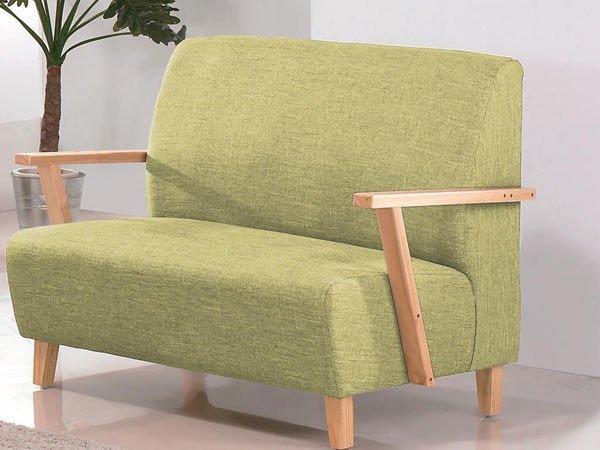 !新生活家具! 布沙發 亞麻布 《雲淡風輕》綠色 木扶手 北歐風 2人座 雙人沙發 二人座沙發 飯店 組椅 多色可選 工廠直營 台灣製造 非 H&D ikea 宜家