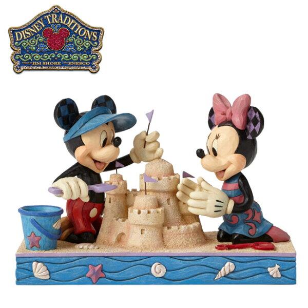 【正版授權】Enesco米奇米妮堆沙雕塑像公仔精品雕塑MickeyMinnie迪士尼Disney-832625