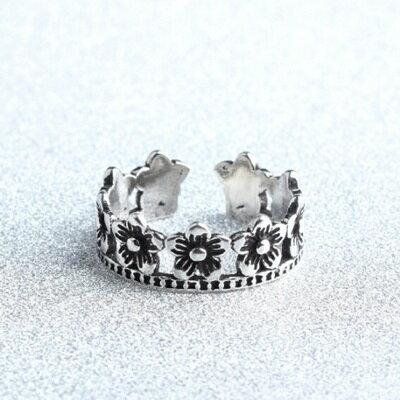 ~925純銀戒指花朵開口戒~ 精美優雅百搭生日情人節 女飾品73gp52~ ~~米蘭 ~