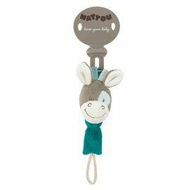 Nattou - 絨毛動物奶嘴鍊/加斯頓