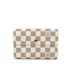 【LV】白棋盤格 三折 13卡 中夾 N63068