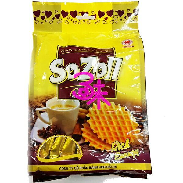 (越南) 日日旺 帆船咖啡鬆餅 1包 180 公克 特價 60元【8934595054709 】(sozoll egg & milk cookies with coffee)