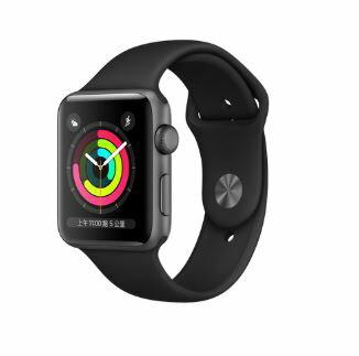 免運!!!Apple Watch Series 3 GPS 42mm/38mm 太空色鋁金屬錶殼+黑色運動錶帶/銀色錶殼搭配白色錶帶