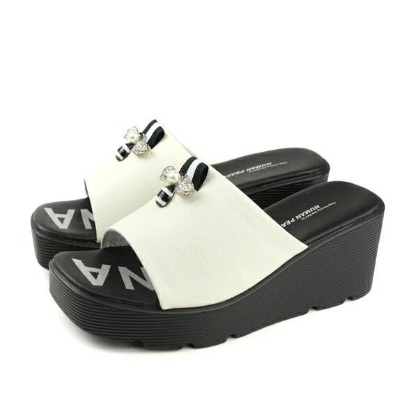 HUMANPEACE拖鞋厚底白色女鞋818-11no139