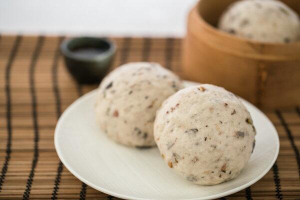 無糖黑豆(6入)小語媽手作饅頭