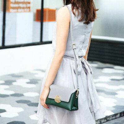肩背包撞色側背包-時尚優雅小方包百搭女包包4色73sb19【獨家進口】【米蘭精品】
