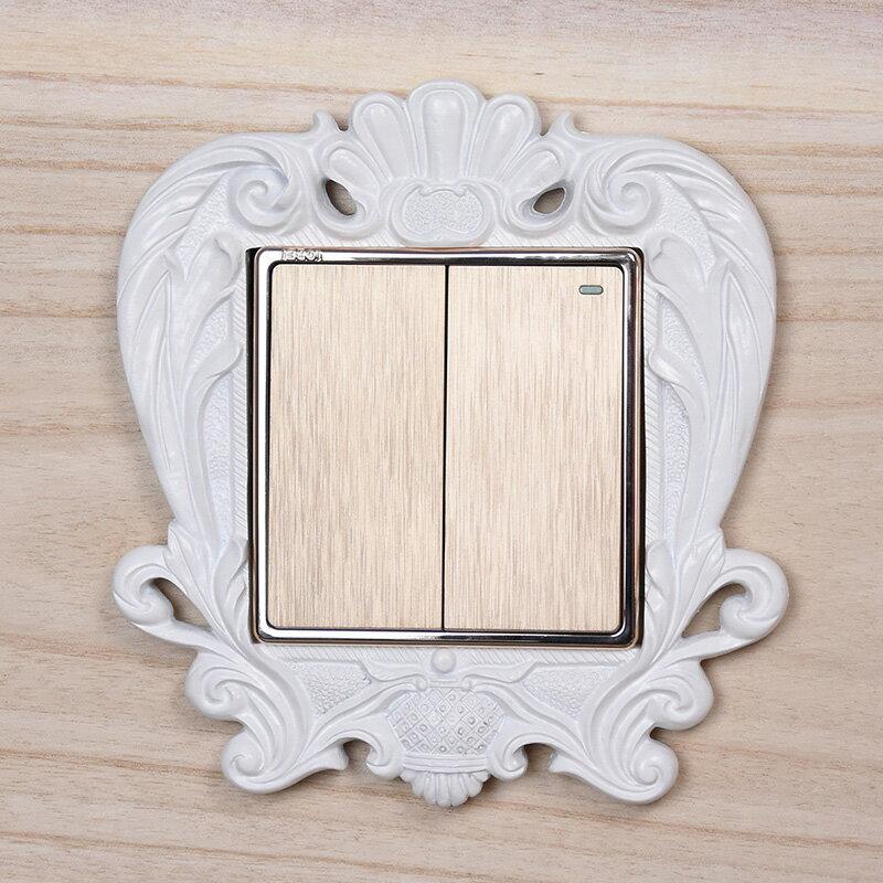 開關貼牆貼3d立體插座貼家用牆面裝飾樹脂開關保護套創意可愛家居  LSS3 愛尚優品