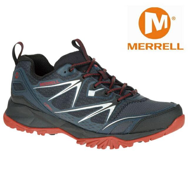 七折出清 Merrell 低筒登山鞋/越野鞋/健行鞋 防水透氣 CAPRA BOLT  GORE-TEXxae ML35727 男 黑