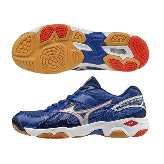 高CP值 WAVE TWISTER 4 排球鞋 V1GA157006(藍*白)S【美津濃MIZUNO】